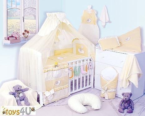 10tlg Babybettwäsche Set 135x100 Kinderbettwäsche Bettwäsche Nestchen Baby