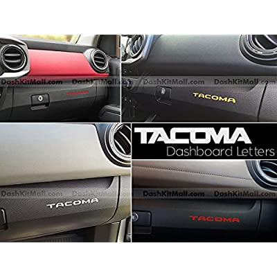 SF Sales USA - Red Plastic Letters fits Tacoma 2016-2020 Dash Inserts Not Decals: Automotive