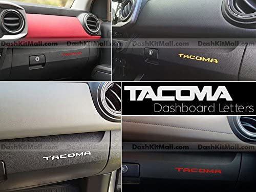 SF Sales USA Red Plastic Letters fits Tacoma 2016-2020 Dash Inserts Not Decals