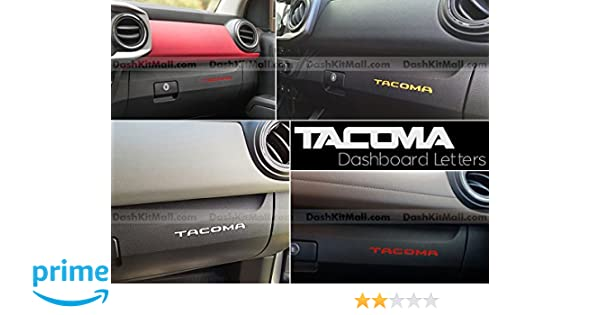 SF Sales USA Red Plastic Letters fits 2016-2019 Tacoma Tailgate Inserts Not Decals
