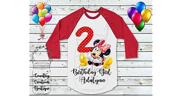 c7c15f09 Amazon.com: Minnie Mouse Personalized Raglan Shirt, Personalize Tee Shirt,  Large Hair Bow, Girls LOL Dolls T Shirt, T-Shirt: Handmade