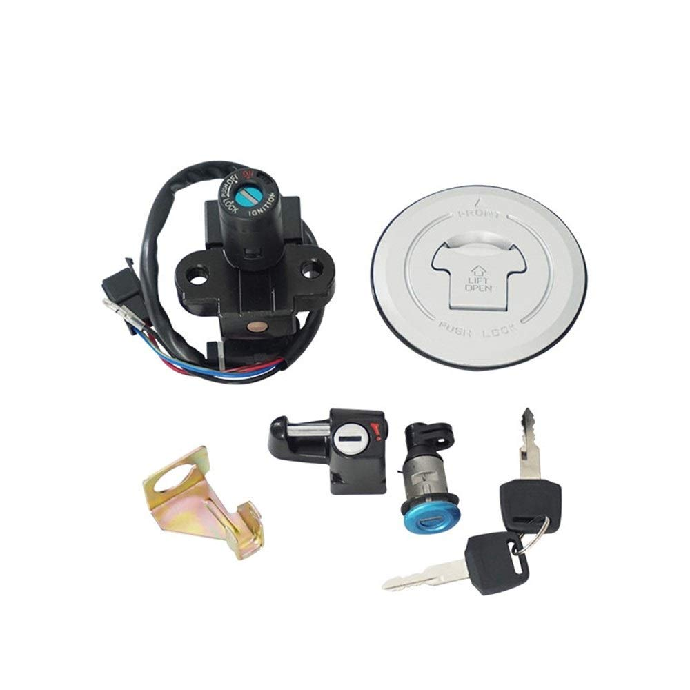 Motorcycle Ignition Switch Fuel Gas Cap Seat Lock Key Set