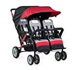Foundations Infant Toddler Sport Splash 4 Passenger Quad Stroller - Red