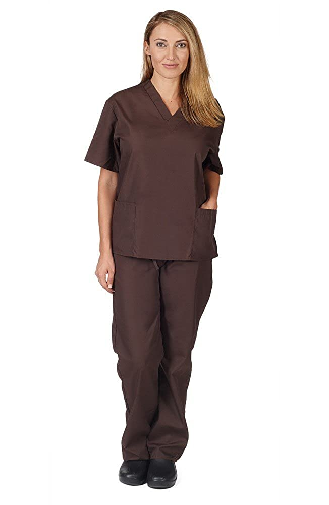 b8cfcb4f078 Amazon.com: Natural Uniforms Unisex Scrub Set - Medical Scrub Top and Pant:  Medical Scrubs Apparel Sets: Clothing