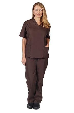 d5e0386b1c9 Amazon.com: Natural Uniforms Unisex Scrub Set - Medical Scrub Top ...