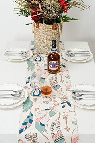 """KEY SPRING Tribal Table Runners (72 X12 Inch) for Wedding Table Decor, Bridal Shower, Birthday Party, Housewarming Gift… - Material: Cotton & Linen Size: 12"""" X 72"""" (30cm X 180cm) Technology:High Temperature Digital Printing - table-runners, kitchen-dining-room-table-linens, kitchen-dining-room - 514qjMMy QL -"""