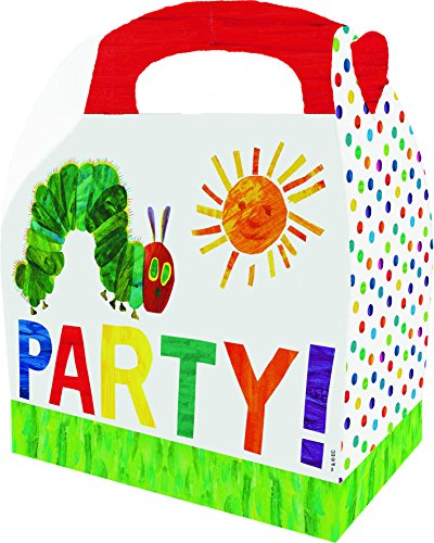 Raupe Nimmersatt The Very Hungry Caterpillar 19417Party Boxes, Set of 6, Paper, Multicoloured, 30x 23x 2cm -
