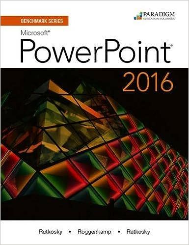 benchmark series microsoft r powerpoint 2016 text rutkosky