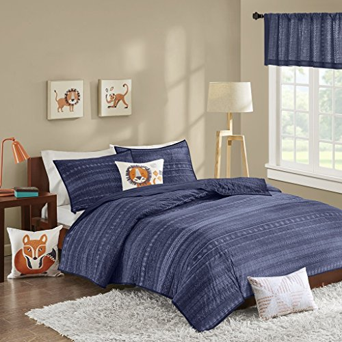 INKIVY Kids Oliver 200TC Coverlet Set Navy FullQueen by INK+IVY Kids