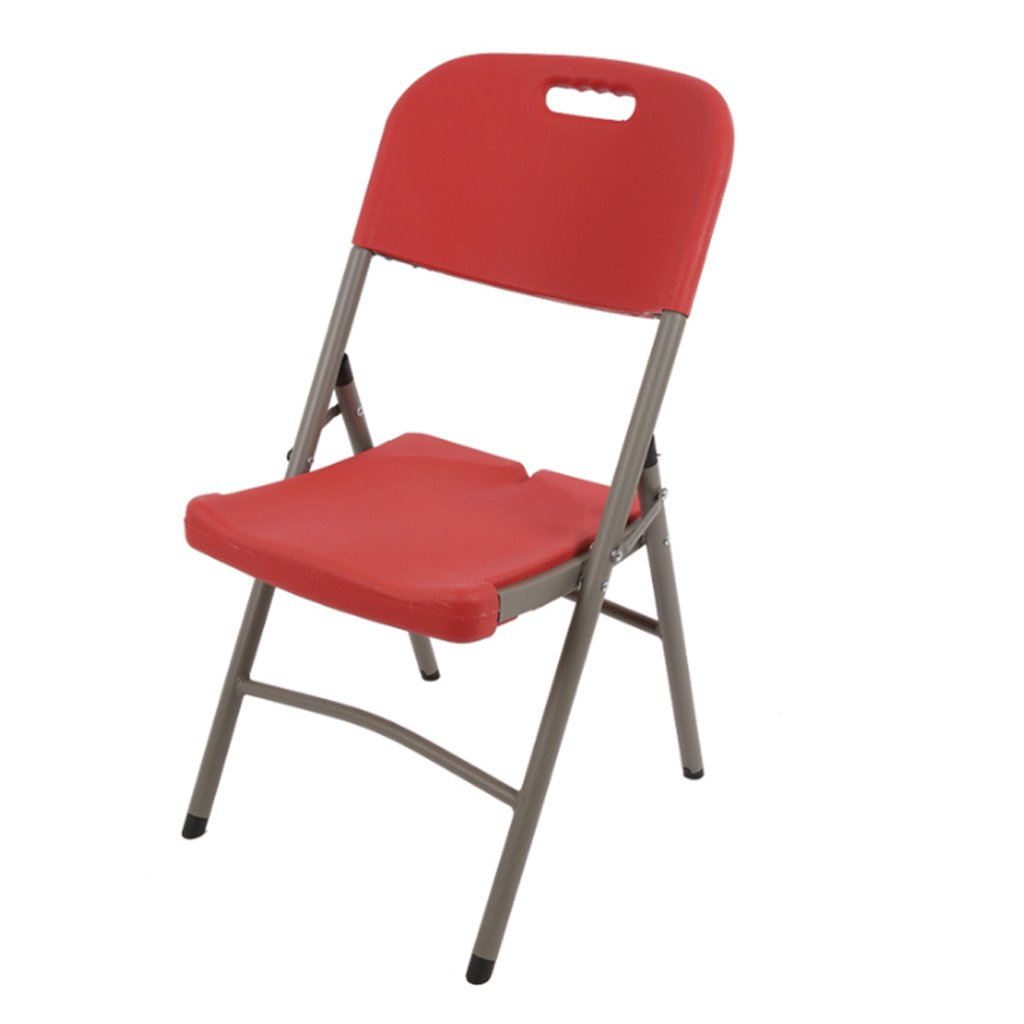 Red 454388CM Folding Chairs Home Dining Chairs Leisure Chairs Training Chairs Conference Chairs Portable Chairs Stools (color   Creamy-White, Size   45  43  88CM)
