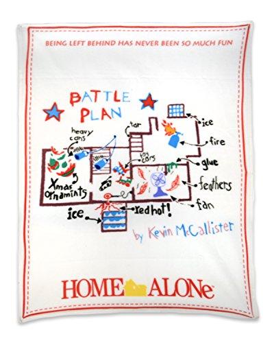 NECA Home Alone Fleece Throw Battle Plan Fleece