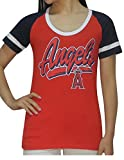 LOS ANGELES ANGELS Womens Short Sleeve Glitter T-Shirt