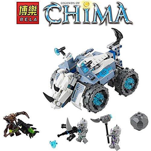 BELA Legends of Chima Lion Rogons Rock Flinger Weapon DIY Model Building Blocks Minifigures Compatible with LEGO 70131