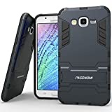 J7 Case, Galaxy J7 Case, Pasonomi [Heavy Duty] [Shock-Absorption] [Kickstand Feature] Hybrid Dual Layer Armor Defender Full Body Protective Case Cover for Samsung Galaxy J7 2015 (kickstand Series Dark Blue)