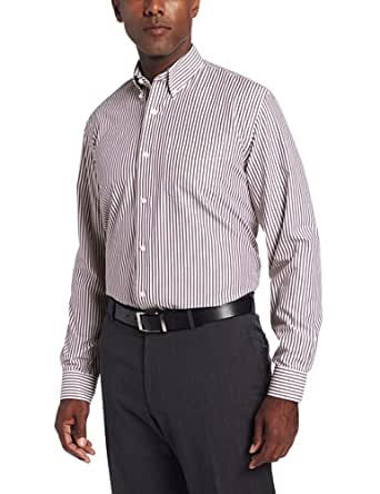 Cutter & Buck Men's Big-Tall Long Sleeve Epic Easy Care Bengal Shirt, Bordeaux, Large/Tall