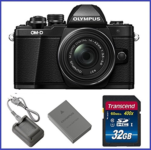 Olympus OM-D E-M10 Mark II (14-42mm IIR Lens, Black) For Sale