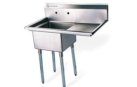 Stainless Steel Commercial Kitchen Sinks Amazon eq 1 compartment commercial kitchen sink stainless steel eq 1 compartment commercial kitchen sink stainless steel workwithnaturefo