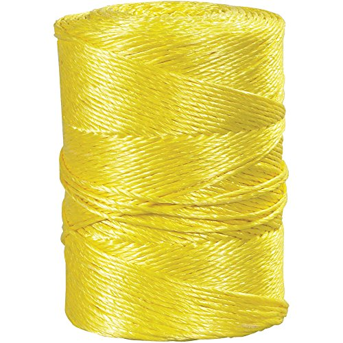 Boxes Fast Twisted Polypropylene Rope, 3/16, 650 lb, Yellow, (1 Roll of 600') by Boxes Fast