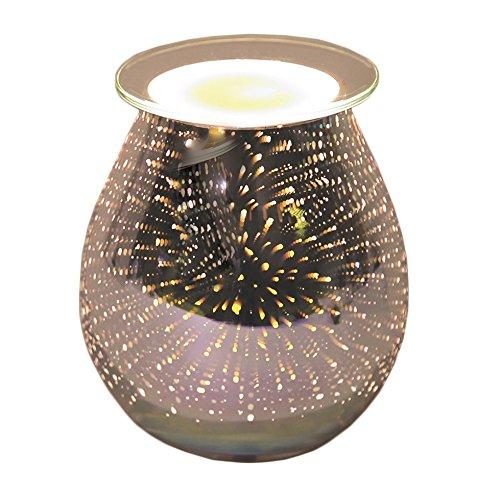 3D Star Scape Design Electric Wax Melt Burner Lamp Scented Tart Fragrance Aroma Warmer 14 centimetre Tooltime UK