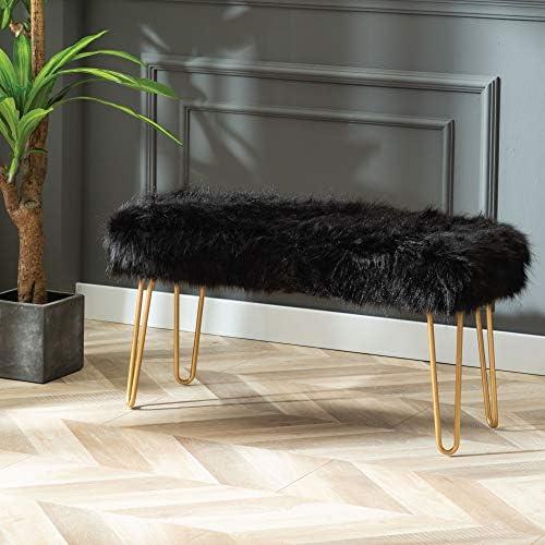 Modern Rectangular Ottoman Footrest Stool