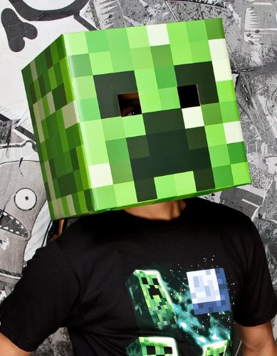 Minecraft Creeper Head Cardboard Costume Mask Jinx