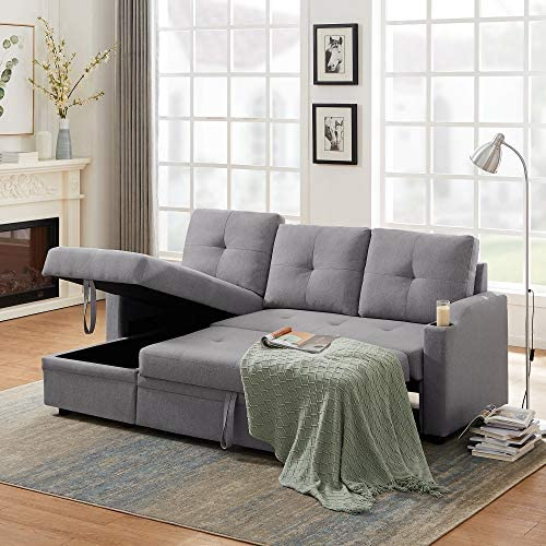 Reversible Sectional Sofa Couch - a good cheap living room sofa
