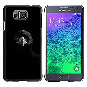 FlareStar Colour Printing Raven Black Bird Beak Smart Rock Deep cáscara Funda Case Caso de plástico para Samsung GALAXY ALPHA G850