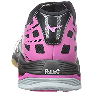 Mizuno Women's Wave Lightning Z WOMS BK-PK Volleyball Shoe, Black/Pink, 9 B(M) US