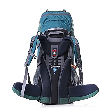 TOPSKY Outdoor Sports Waterproof Hiking Climbing Camping Mountaineering Internal Frame Backpack 70L Unisex Large Trekking Travel Daypacks with Rain Cover Can extension to 80L