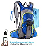 Peak Gear Hydration Backpack - BPA-Free Bladder, 2L Water Pack - Includes Lifetime Lost & Found ID