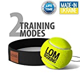 Lom.Boxing Fight Ball Reflex, Simple design, Boxing Gym Equipment, Trainer for Training and Fitness, Boxer Head Cap with string and tennis ball for speed punch, Revolution in boxing for 2018