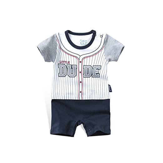 e7b99cb216630 Amazon.com: DOESLOOK Newborn Baby Boys Baseball Romper Clothes ...