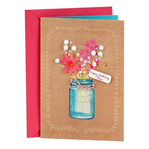 Hallmark Signature Birthday Card for Mom (Flowers)
