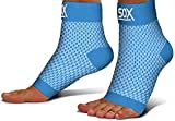SB SOX Compression Foot Sleeves for Men & Women - Best Plantar Fasciitis Socks for Plantar Fasciitis Pain Relief, Heel Pain, and Treatment for Everyday Use with Arch Support (Blue, Small)