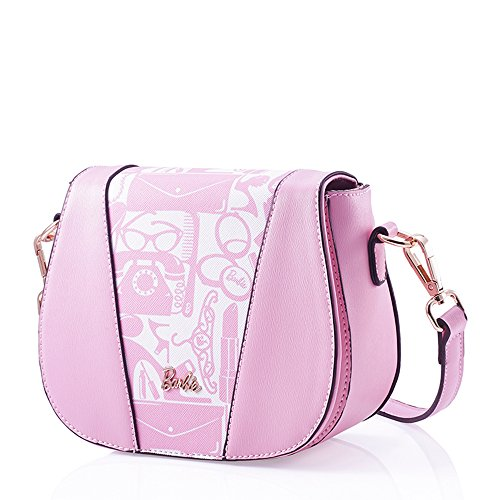 Barbie BBFB356 Bolso Simple de DIbujos Flores Estilo Estudiantil Estilo Gracioso y Elegante Rosa Clara