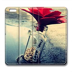 Love and Rose Design Leather Case for Iphone 6 Love You