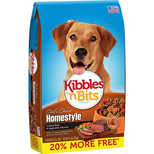 Kibbles 'n Bits Homestyle Grilled Beef & Vegetable Flavors Bonus Bag Dry Dog Food, 4.2 lb