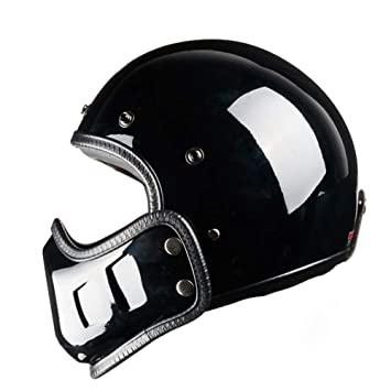 CARWORD Visera Desmontable Y Forro Moto Moto Crash Casco Chopper Casco