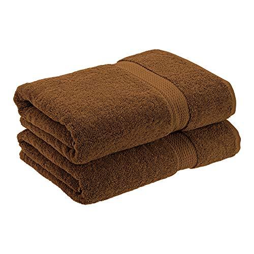 SUPERIOR Solid Egyptian Cotton 2-Piece Bath Towel Set
