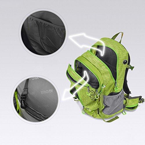AMOS Al aire libre alpinismo bolso hombro hombres y mujeres montando una mochila deportiva caminando bolso de hombro 38L ( Color : Fruit green ) Fruit green