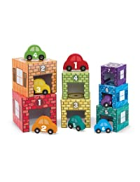 Melissa & Doug Nesting and Sorting Garages and Cars With 7 Graduated Garages and 7 Stackable Wooden Cars BOBEBE Online Baby Store From New York to Miami and Los Angeles