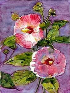 Flor–hibisco bandera, poliéster, Multicolor, grande