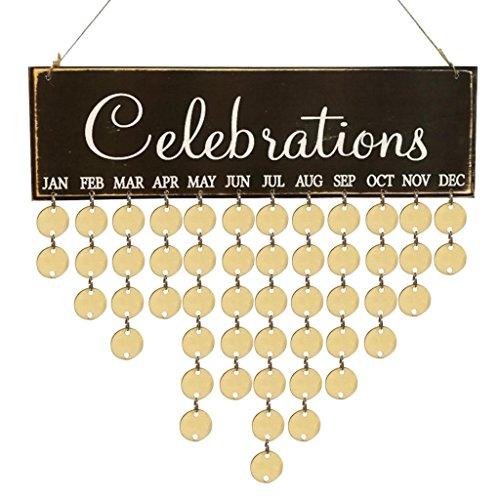NEWONESUN DIY Calendar For Valentine's Day For Birthday Reminder (04F)