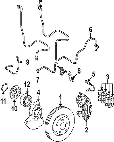 Mercedes-Benz 221 981 04 06, Wheel Bearing