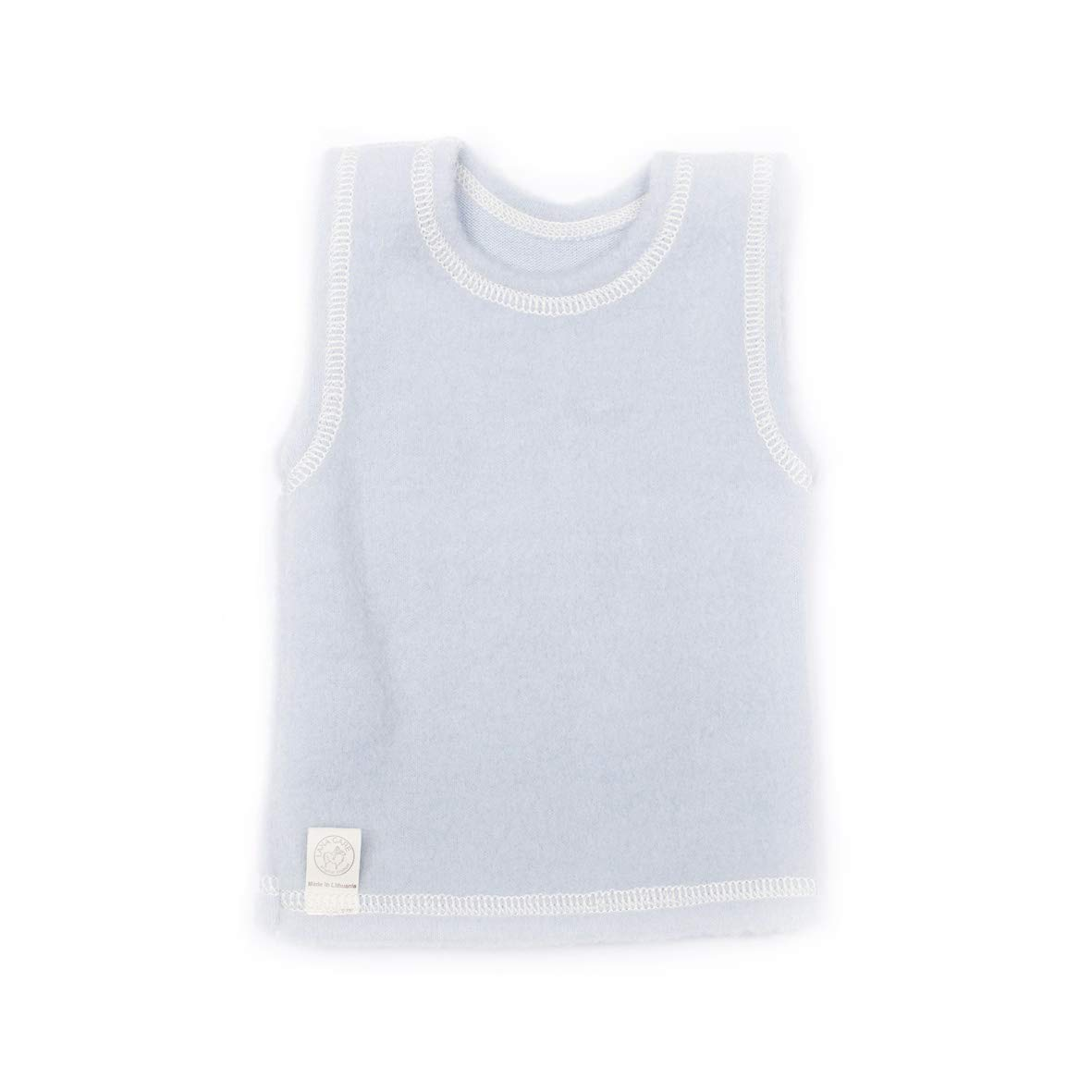 LANACare Baby/Toddler Vest in Organic Merino Wool, Size 62 (3-6 mo), Light Blue by LANA CARE original product