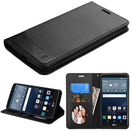 LG G Stylo Case, G Vista 2 Case, JoJoGoldStar Bicast PU Leather Folio Wallet with Card Slots and Kickstand, Comes with Stylus Pen and Screen Protector - Black (Lg G Vista Wallet Phone Case compare prices)