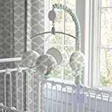 Carousel Designs French Gray and Mint Quatrefoil Mobile