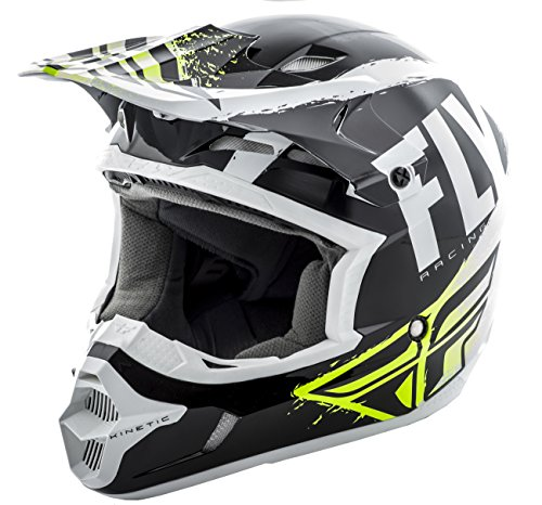 Fly Racing 2019 Kinetic Helmet - Burnish (Medium) (Black/White)
