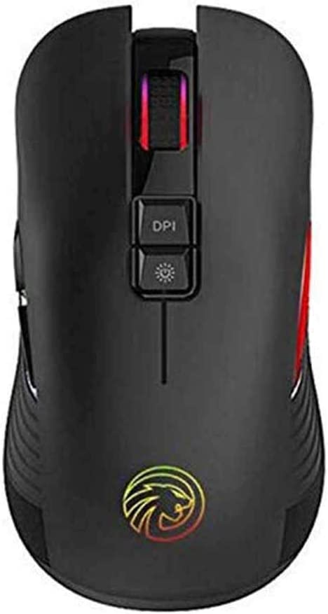 Rechargeable 2.4G Home Illuminated Desktop Computer Silent Notebook Gaming Mouse High-Speed Fast Charging Green Wireless Mouse