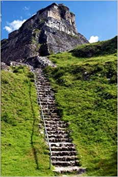 Book El Castillo Mayan Pyramid at Xunantunich Belize Journal: 150 page lined notebook/diary